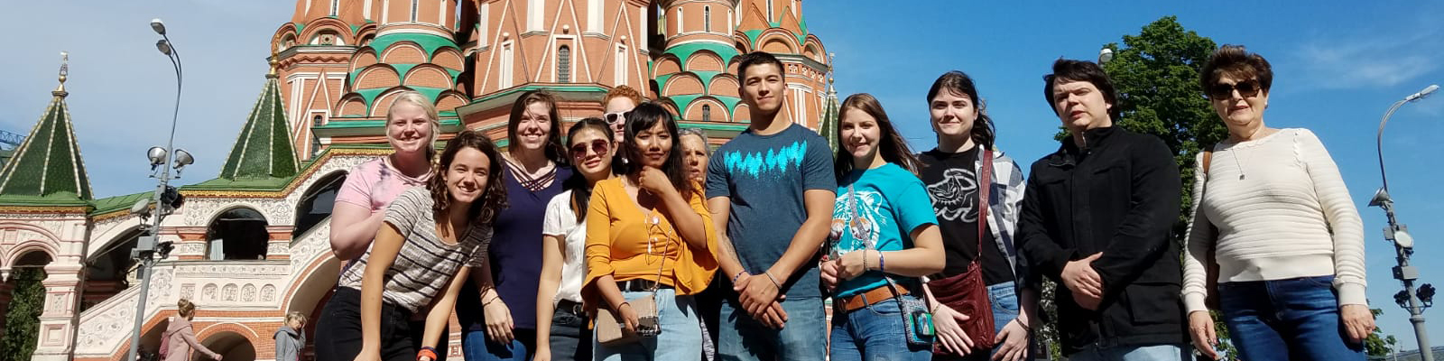 ECU students in Moscow.