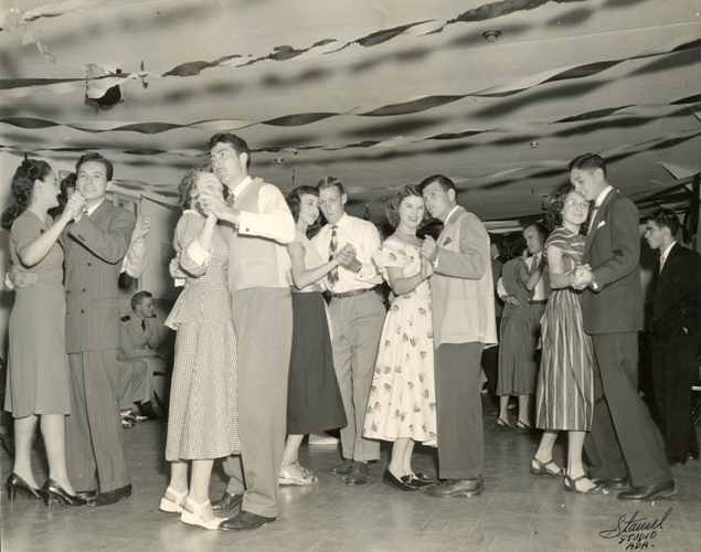 ECU students enjoy themselves during a dance in 1948