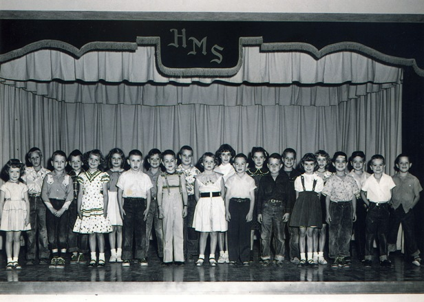 Pictured is a Horace Mann class photo taken in the early 1950s.