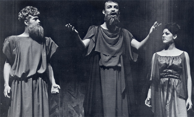 "The drama department presents Sophocles' Greek Tragedy ""Antigone."""