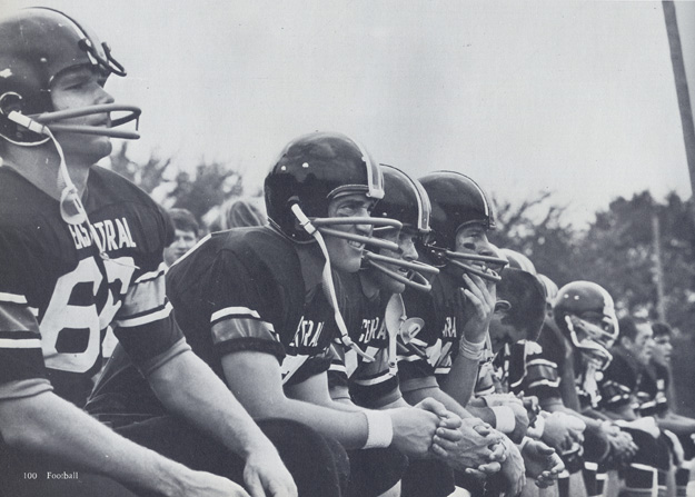 Tiger Football Team: eam Record for 1969: 8-1-1.