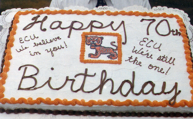ECU celebrates it's 70th birthday in 1979.