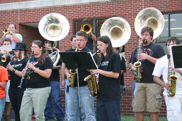 ECU Band provides entertainment at the Block Party