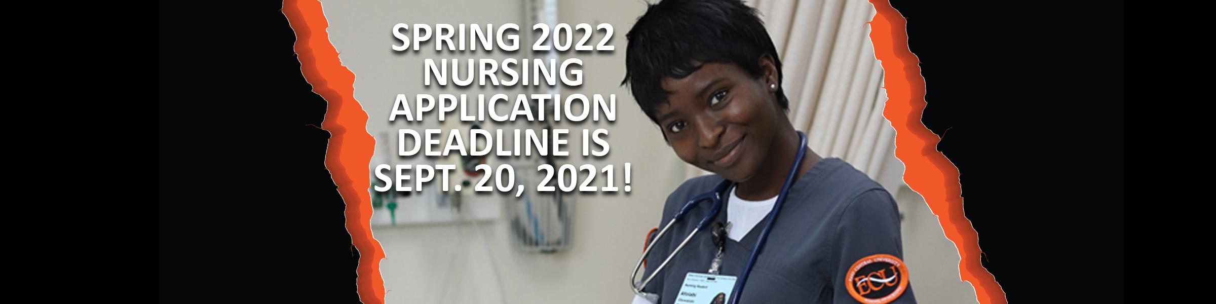 Nursing deadline is Sept. 20, 2021
