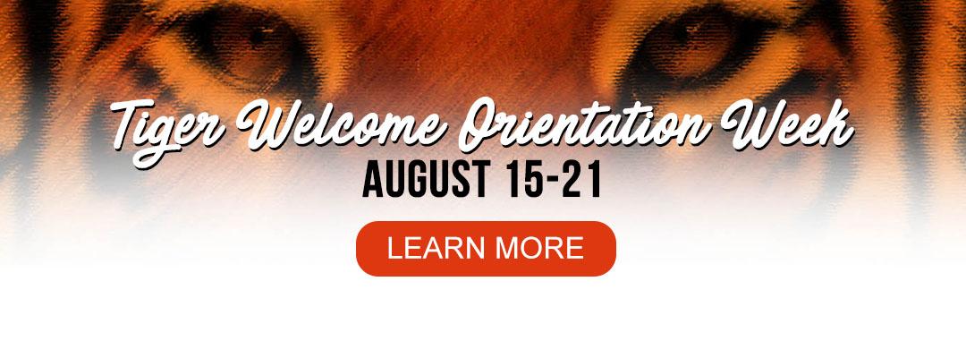 Welcome Orientation Week slider