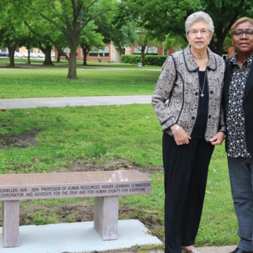 Bench dedication for Carlotta Lockmiller. 5/9/2019