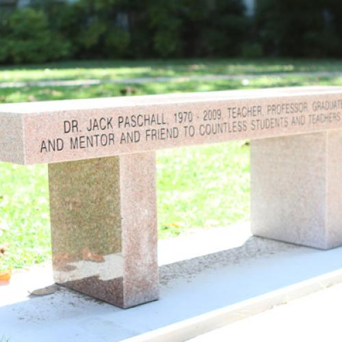 Bench Dedication for Dr. Jack Paschall. 6/25/19
