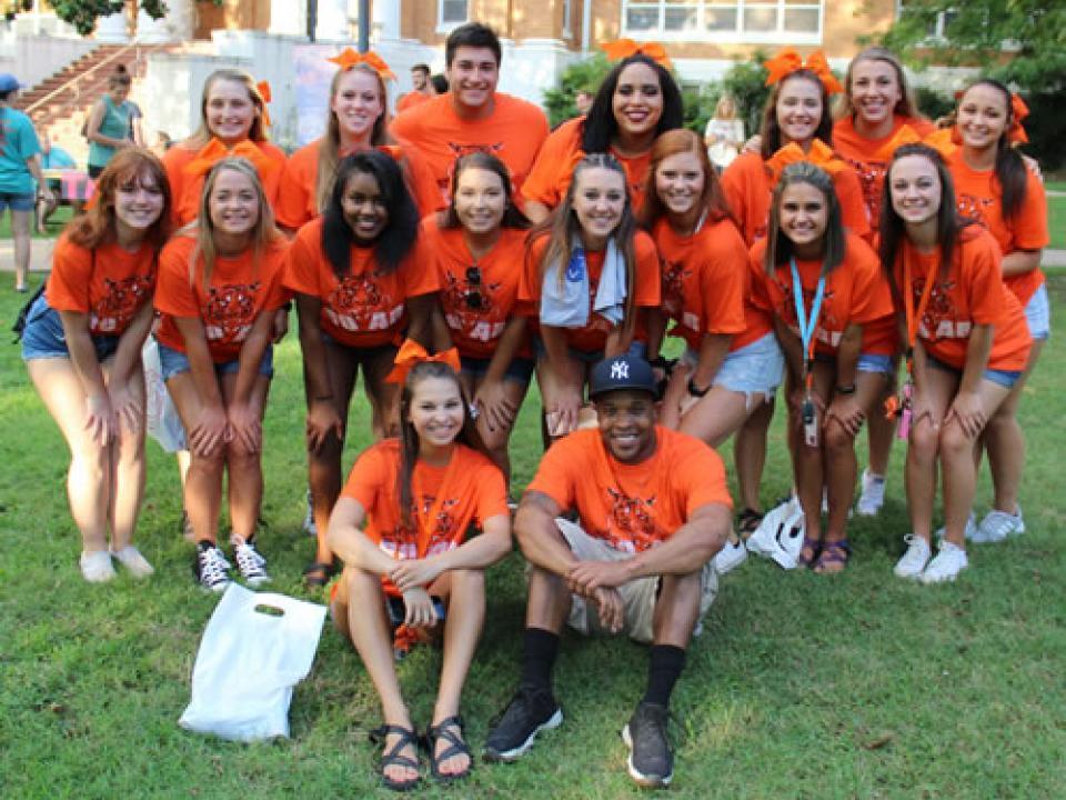 Group of ECU Cheerleaders