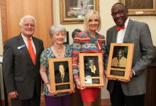 Photo of the new members of the Educator Hall of Fame