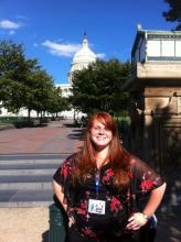Loren Dunnam posing in front of the Capitol Building in Washington D.C. last fall.