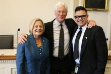 Diego Cifuentes with actor/entertainer Richard Gere and Congresswoman Ileana Ros-Lehtinen.