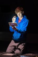A scene from the Curious Incident of the Dog in the Night-Time.