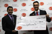 Pradil Poudel wins ECU Tiger Tank Competition.