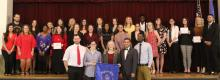 Inductees into ECU's Alpha Chi National Honor Society