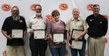Physical Plant Employees Receive Awards