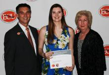 Shelby Baker receives two scholarship awards.