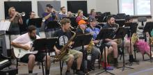 ECU Jazz Band Rehearsal