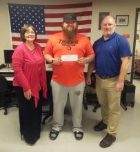 Josh Sisco receives Veterans Upward Bound scholarship.