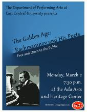"ECU presents ""The Golden Age: Rachmaninov and His Poets"""
