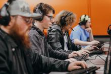 ECU Tiger Esports athletes practice their skills in a gaming lab on campus.