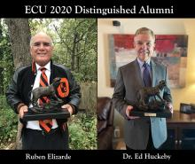 ECU honors Elizarde, Huckeby as 2020 Distinguished Alumni