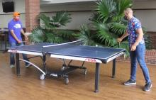 ECU students playing ping pong