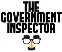 The Government Inspector with Groucho Marx glasses