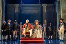 Photo from production of The Madness of George III NOttingham Playhouse