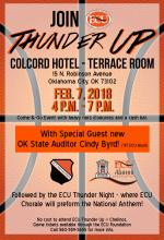 Thunder Pre Game Event Poster