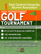 2019 Homecoming Golf Tournament Flyer