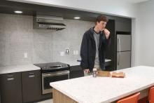 Kitchen of new residence hall