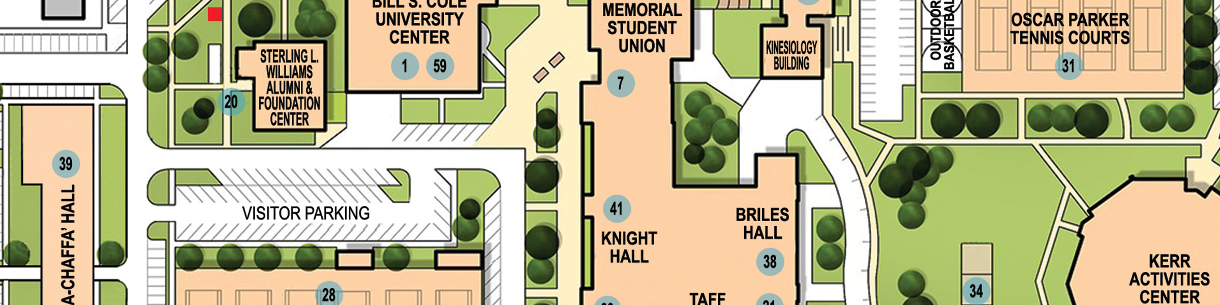 Slider image with link to ECU Campus Map.